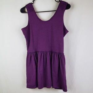 Matilda Jane Purple Sleeveless Top Medium